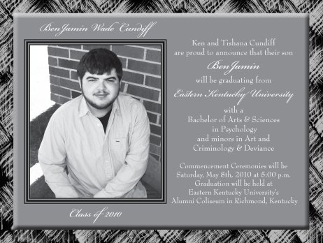 Jamin's Graduation Invitations