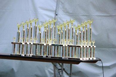 Trophies for the event...these are for 1st-5th places in each category: Poultry, Pork, Pork Ribs, and Beef.