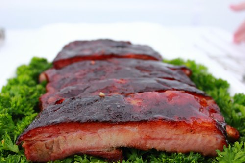 Rob-a-Que's Ribs ready for judging.
