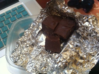 Homemade fudge from the US! Thanks Barbar and Danny Jeffries!