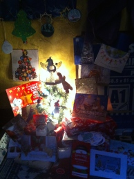 My beautiful Christmas tree with wrapped gifts!