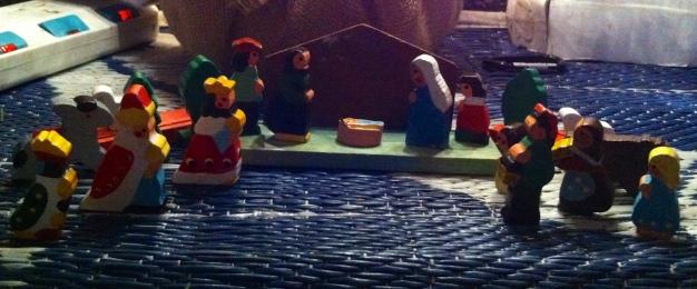 The nativity scene my mom sent me