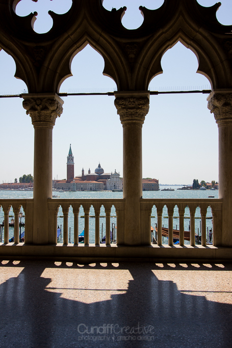 View from inside The Doge's Palace